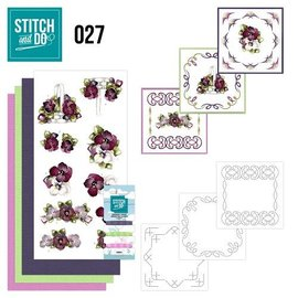 BASTELSETS / CRAFT KITS à broder Set Carte « Fleur »