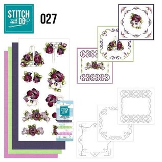 "BASTELSETS / CRAFT KITS at brodere Card Set ""Flower"""