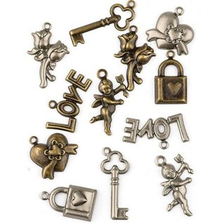 Embellishments / Verzierungen Dekorationer, 12 charms