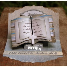 Crealies und CraftEmotions Corte morre: forma de livro XXL