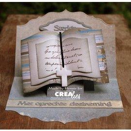 Crealies und CraftEmotions troqueles de corte: la forma del libro XXL