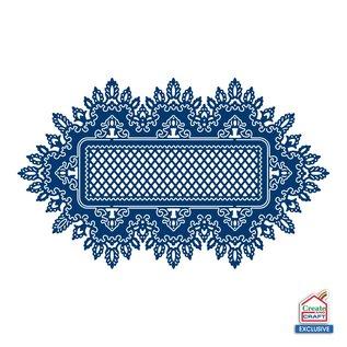 Tattered Lace Ponsen sjabloon: kant frame, rechthoeken