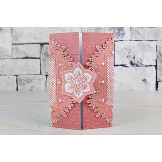 Tattered Lace Stansning skabelon: blonder ramme, rektangler