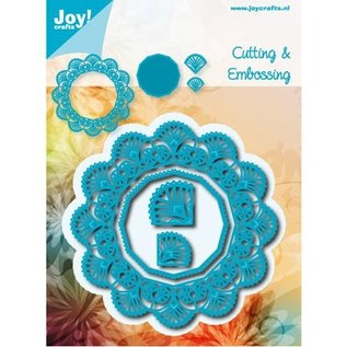 Joy!Crafts / Hobby Solutions Dies Ponsen sjabloon: bovenste frame rond hoeken en 2