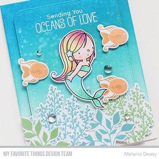 Die-namics Stanzschablone: Meerjungfrauen, Pflanzen, Muscheln, Fische und Schildkröte