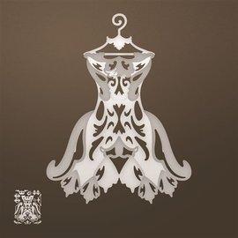 CREATIVE EXPRESSIONS und COUTURE CREATIONS Stanzschablone: Filigranes Kleid (3D) 45% SONDERRABATT!