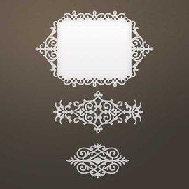 CREATIVE EXPRESSIONS und COUTURE CREATIONS template perfuração: moldura decorativa intrincada e ornamentos