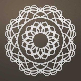 CREATIVE EXPRESSIONS und COUTURE CREATIONS Modèle de poinçonnage: Filigrane napperon SET
