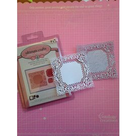 CREATIVE EXPRESSIONS und COUTURE CREATIONS Stamping template: Filigree decorative frame, rectangle