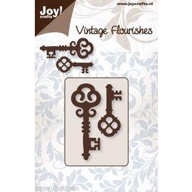 Joy!Crafts / Hobby Solutions Dies Stansning skabelon: 2 Vintage nøgle