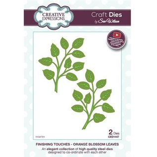 CREATIVE EXPRESSIONS und COUTURE CREATIONS Stamping templates: 1 branches with leaves and 1 in mirror image