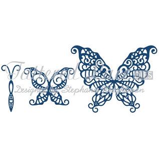 Tattered Lace Stan sjabloon: 3D Vlinder