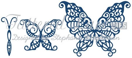 Tattered Lace Template: 3D butterfly - Hobby-Crafts24.eu English