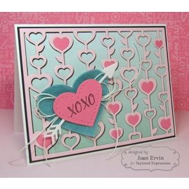 Taylored Expressions Stamping template: Blooming Hearts