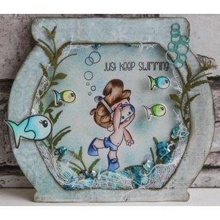 Joy!Crafts / Hobby Solutions Dies Stansning skabelon: Alger og bobler