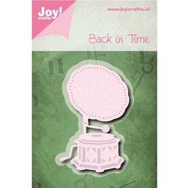 Joy!Crafts / Jeanine´s Art, Hobby Solutions Dies /  template perfuração: Back in Time, Gramophone