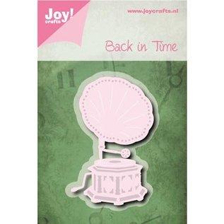 Joy!Crafts / Jeanine´s Art, Hobby Solutions Dies /  Stansning skabelon: tilbage i tiden, Gramophone