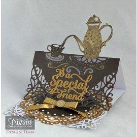 Die'sire Stamping template: Afternoon Tea