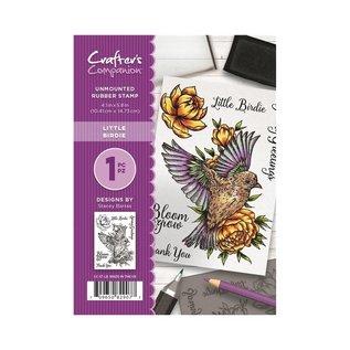 Crafter's Companion Gummi Stempel: Little Birdie