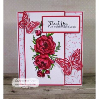 Crafter's Companion Gummi stempel: Beautiful Rose