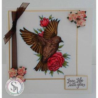 Crafter's Companion timbre en caoutchouc: littlebirdie