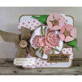 Crafter's Companion Carimbo de borracha: Rosa bonita