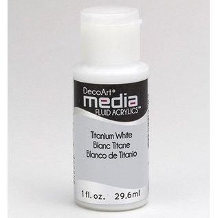 DecoArt acryliques fluides médias, blanc de titane