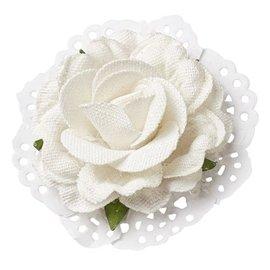 BLUMEN (MINI) UND ACCESOIRES Rose in lino ottica 6 centimetri - 2 pezzi