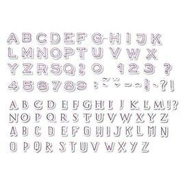 ALADINE 54 stamps, letters and numbers + black mini inkpad!