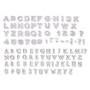 ALADINE 54 francobolli, lettere e numeri + mini nero tampone di inchiostro! -