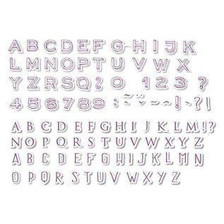 ALADINE 54 Stamps, letters and numbers + black mini stamp pad! -