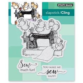Penny Black Rubber stamp: fun when sewing