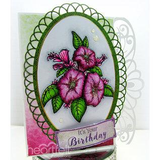 Heartfelt Creations aus USA Hjertelig produktioner: Classic Petunia Bouquet Stamp Set + Stan Template Set + Designersblock