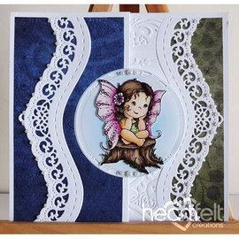 Heartfelt Creations aus USA Inderlige elementer: Fairy drømmer, Stamp Set + Stan sjablong SET + 8 grenser Bakker