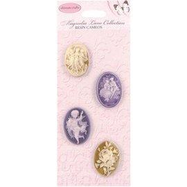 Embellishments / Verzierungen Camafeos, elegancia lamentable, 4 piezas