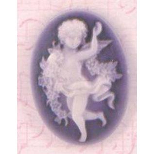 Embellishments / Verzierungen Cameos, Shabby Chic, 4 Stück