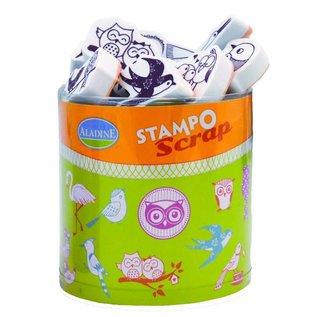 ALADINE Scrap Stempel SET + mini Stempelkissen Black!