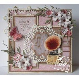 Joy!Crafts / Hobby Solutions Dies modèle POINTAGE: cercle d'ornement et des fleurs