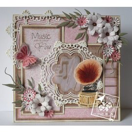 Joy!Crafts / Hobby Solutions Dies Stamping template: decorative circle and flowers