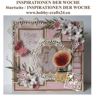 Joy!Crafts / Jeanine´s Art, Hobby Solutions Dies /  Stamping template: Back in Time, Gramophone