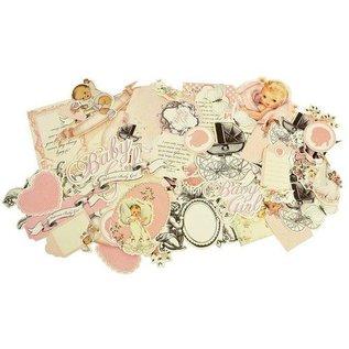 Kaisercraft und K&Company motifs: Baby girl Chipboard