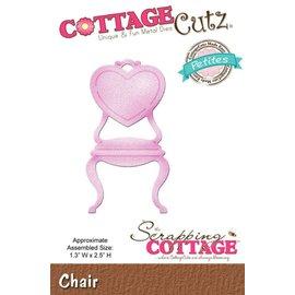 Cottage Cutz Stansning skabelon: Stol med hjerte