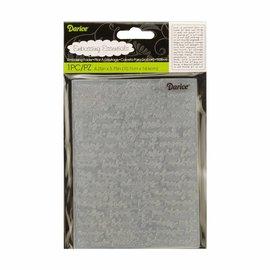 DARICE Prägefolder: Schrift Hintergrund