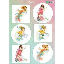 Bilder, 3D Bilder und ausgestanzte Teile usw... folha A4 de imagens: Fairies