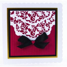 Tonic Stanzschablone + passend dazu Prägefolder : Elegantes Herzendesign