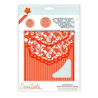 Tonic Punching template + matching embossing foil: elegant heart design