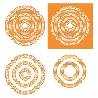 Tonic Stansning jig SET dekorativ ramme Stor!