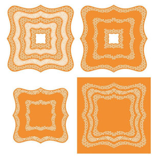 Tonic Stansning jig SET dekorative ramme rektangler Stor!
