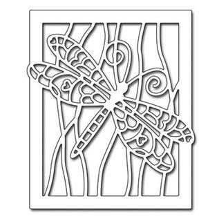 Penny Black Stansning skabelon: Dragonfly i forbindelse