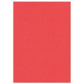 Karten und Scrapbooking Papier, Papier blöcke A4 Leinenkarton, 10 Bögen, rot